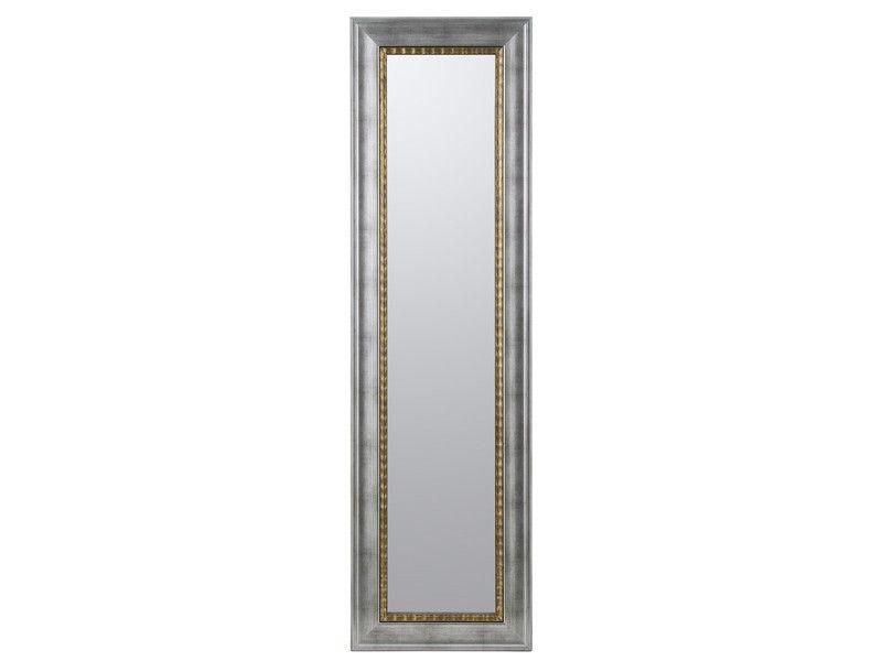 Espejo marco plata con filo de oro 154x44 cm | Espejos | Pinterest