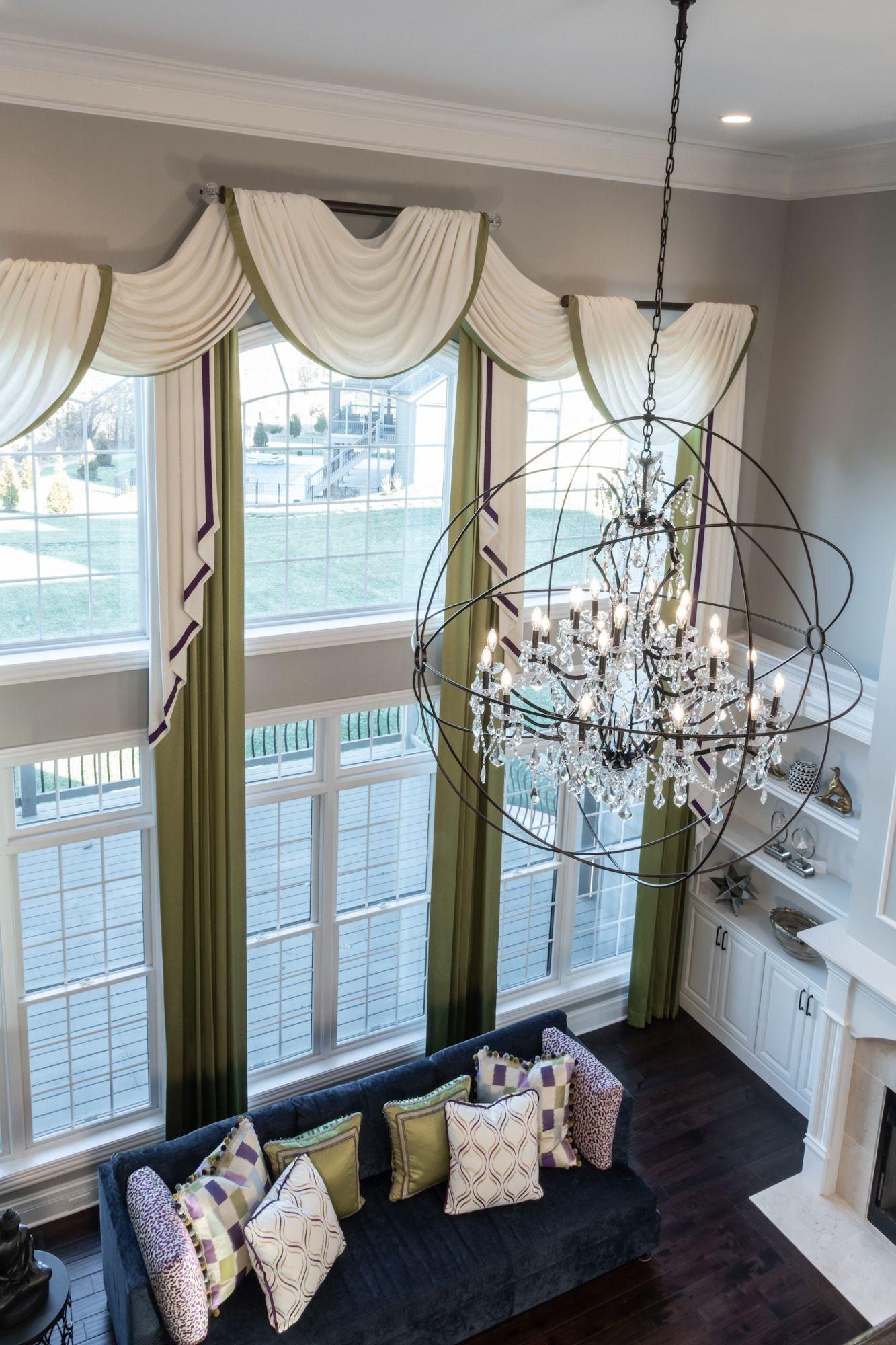 12 Story window drapes   Interior design, Window drapes, Great rooms