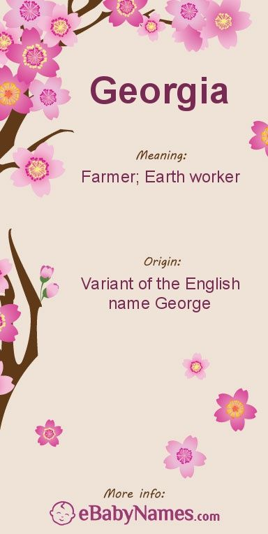 Meaning Of Georgia Is A Variant The English Name George Which