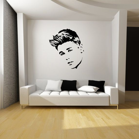 Justin Bieber Wall Art Black Vinyl Decal Mural By Graphicsforless