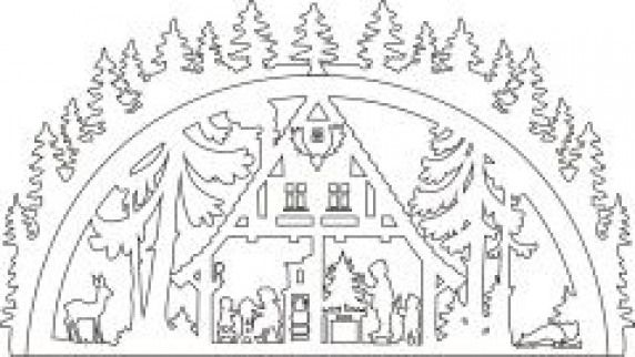 Vorlage Schwibbogen Waldhaus Woodworking Christmas Christmas
