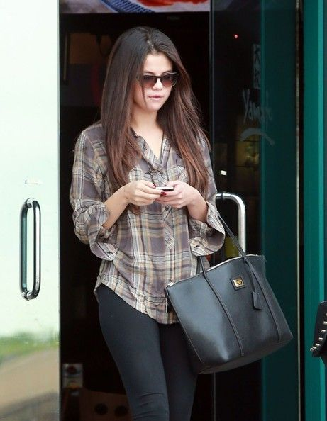 Selena Gomez headed out for a bite in LA recently with a Dolce 'Miss Escape – Classic' Leather Tote in hand.