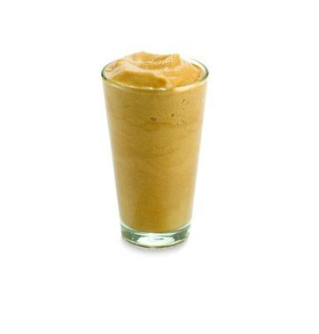 good morning banana joe • 1 very ripe banana + ½ cup strong coffee + ½ cup milk + 1 tbsp peanut butter + 1 tbsp agave syrup + 1 cup ice • blend