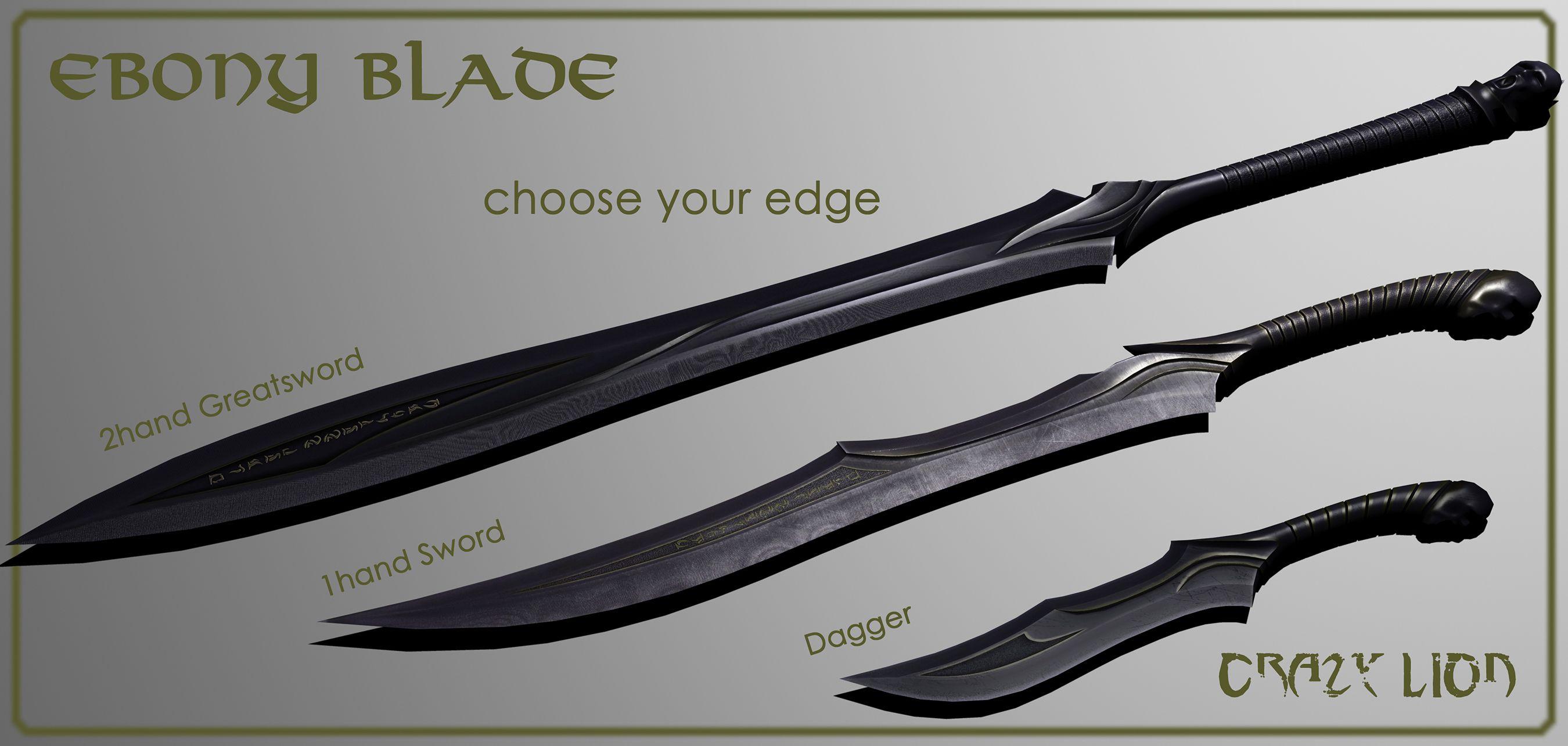 Skyrim the ebony blade