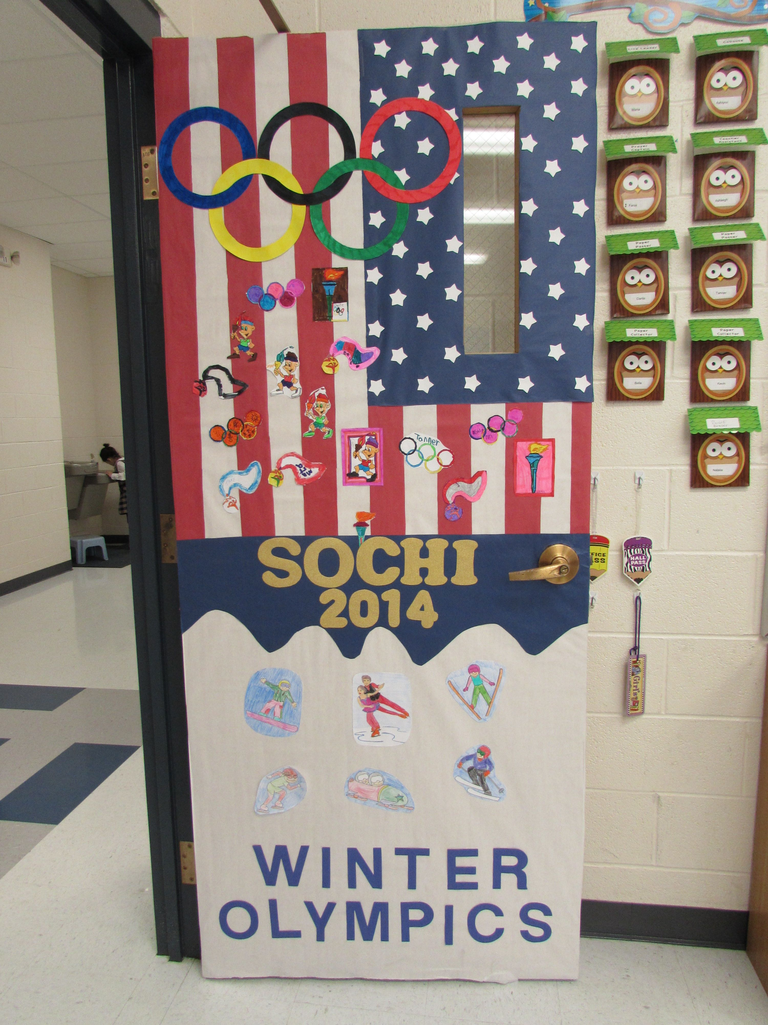 Olympic theme for classroom door & Olympic theme for classroom door | Olympics theme classroom door ...
