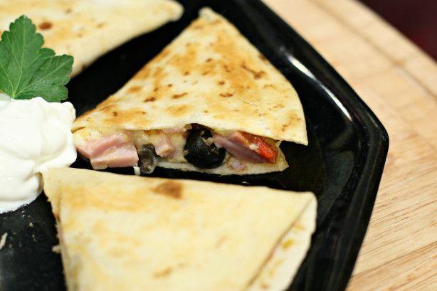 Ham and Gouda Quesadilla Snacks