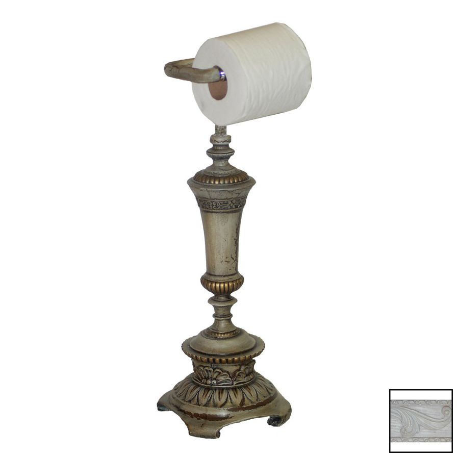 Hickory Manor House Whitewash Freestanding Countertop Toilet Paper Holder Toilet Paper Holder Toilet Paper Countertops