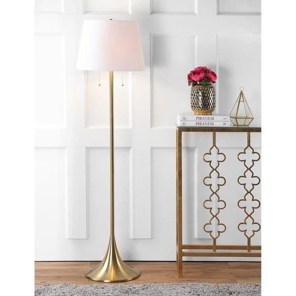 Amelia 63 Metal Led Floor Lamp Brass Brass Gold 63 H X 17