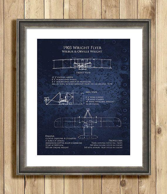 1903 wright flyer blueprint bi plane art print multiple sizes on 1903 wright flyer blueprint bi plane art print multiple sizes on etsy 2500 malvernweather Image collections