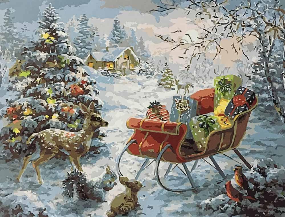 Картина по номерам «Ночь перед Рождеством» | Картины ...