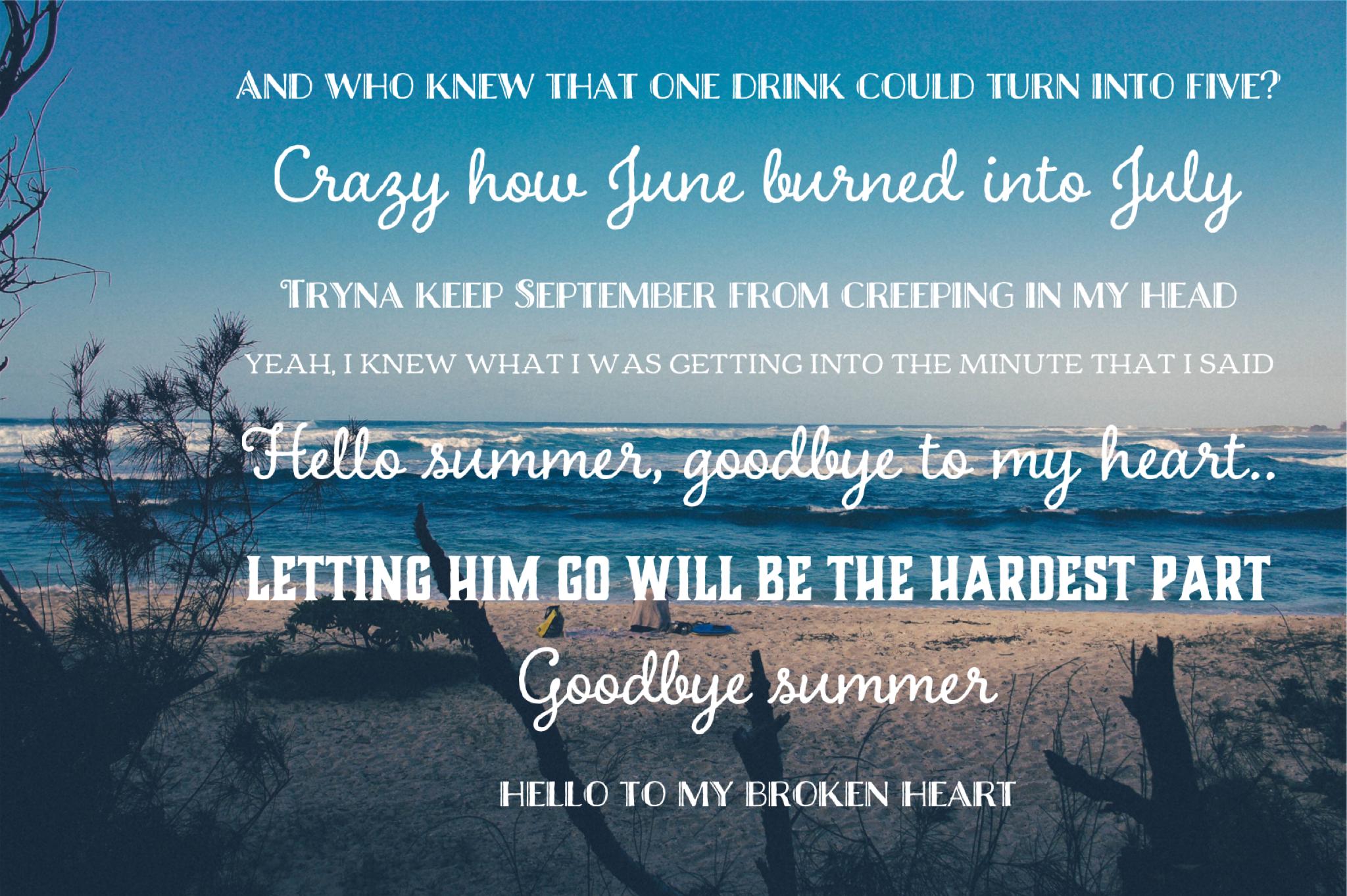 Danielle Bradbery, Thomas Rhett - Goodbye Summer | Letting ...