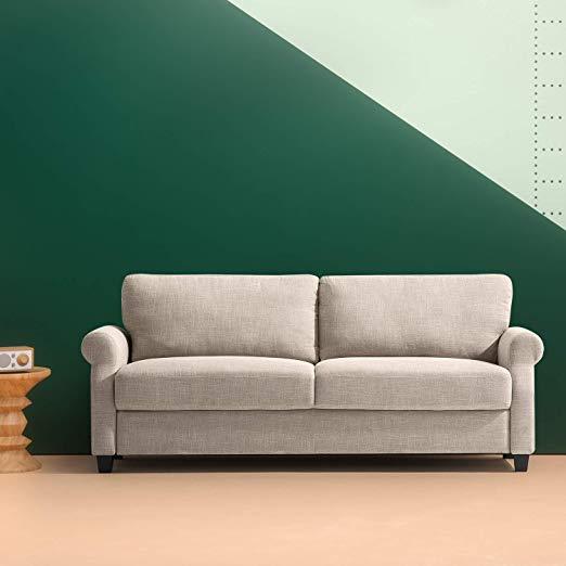 amazon zinus josh traditional upholstered 775 inch