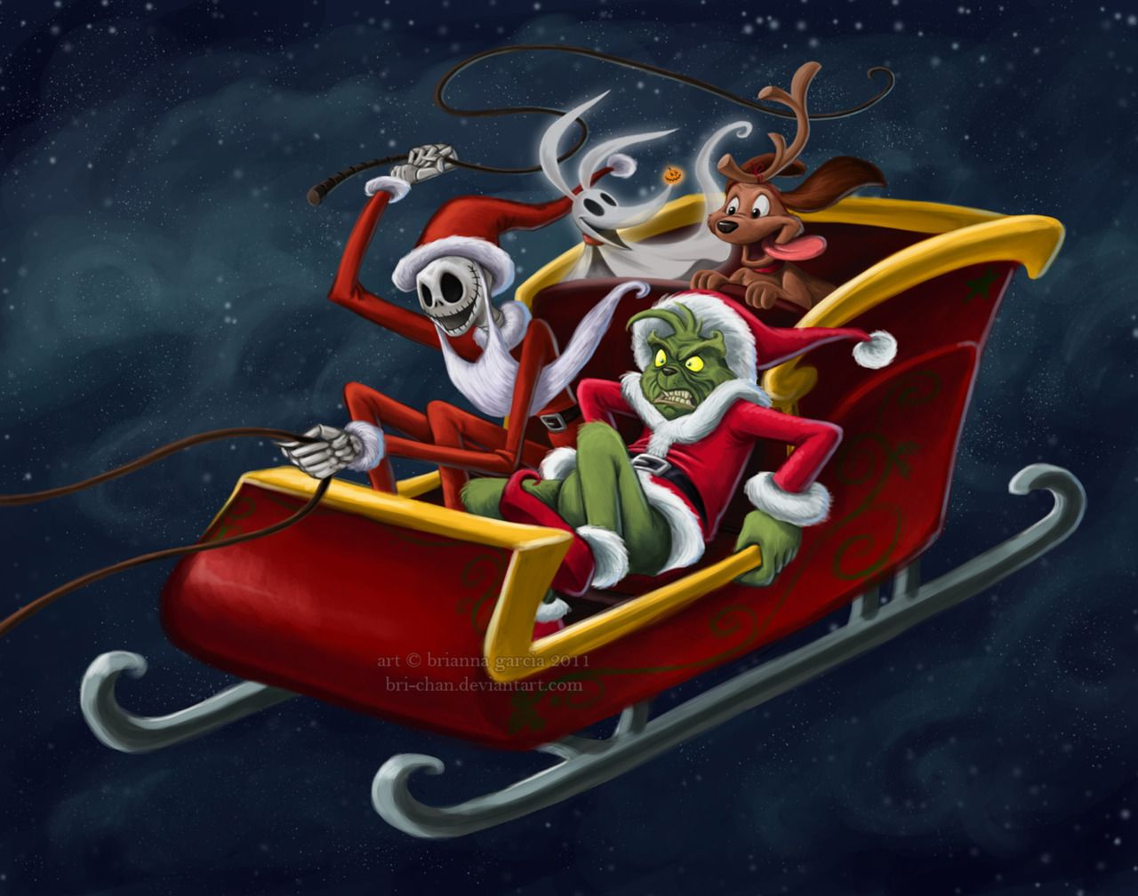 Jack Skeleton And The Grinch The Worst Santas In The History Of Forever Nightmare Before Christmas Wallpaper Nightmare Before Christmas Jack Skellington