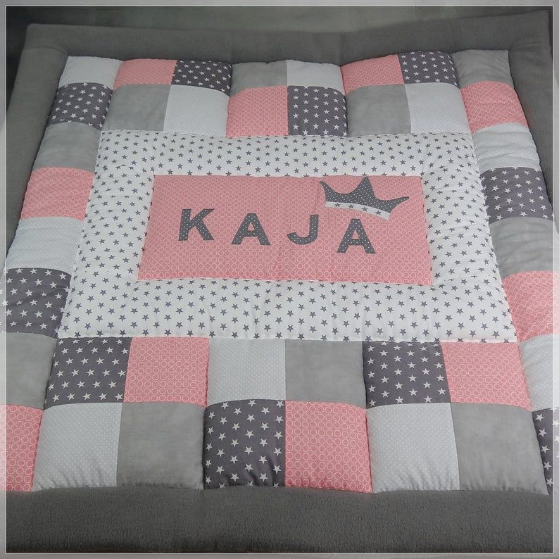 Crab blanket with name * baby patchwork blanket * 3 cm thick volume fleece with name and crown