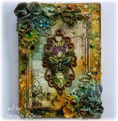 Such a Pretty Mess: Mixed Media Canvas & Video Tutorial {Shimmerz Paints & The Flying Unicorn}