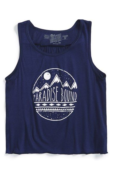 Retro Brand Paradise Bound Graphic Tank Big Girls Available At