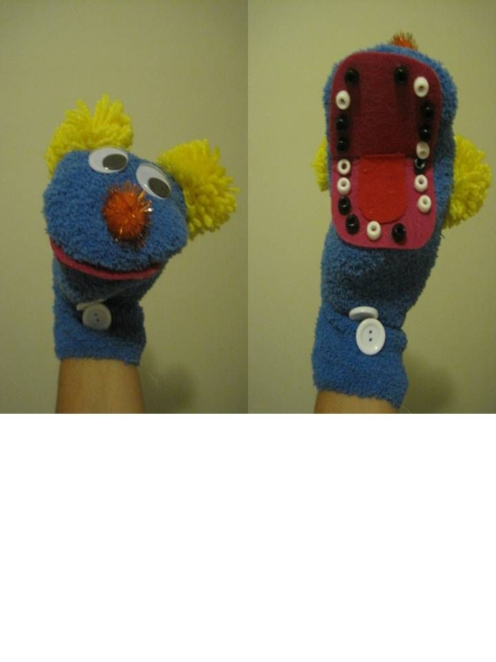 Bad Teeth Sock Puppet-- I made a normal sock puppet and used pony beads for the teeth-- I used these puppets to teach about dental health.