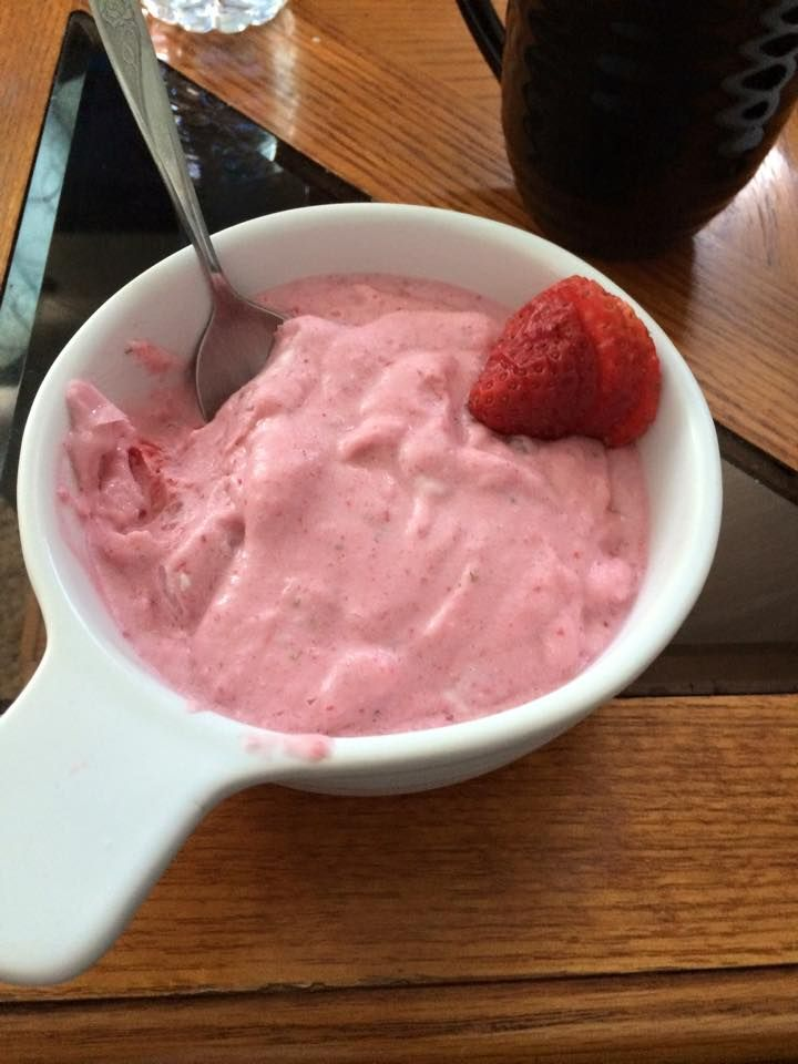 High Quality Strawberry Cottage Cheese Ice Cream 100g Cottage Cheese (non Fat) 2 Packets  Stevia Sweetener 1/2 Of Your Strawberry Serving (you Can Use Entire Serving  1 3 ...