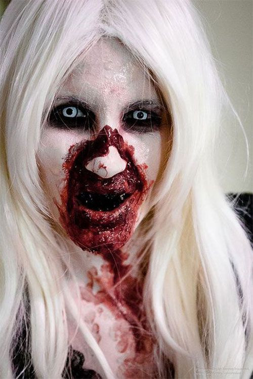 scary halloween makeup to look horrifyingly real halloween make up ideas scary halloween and. Black Bedroom Furniture Sets. Home Design Ideas