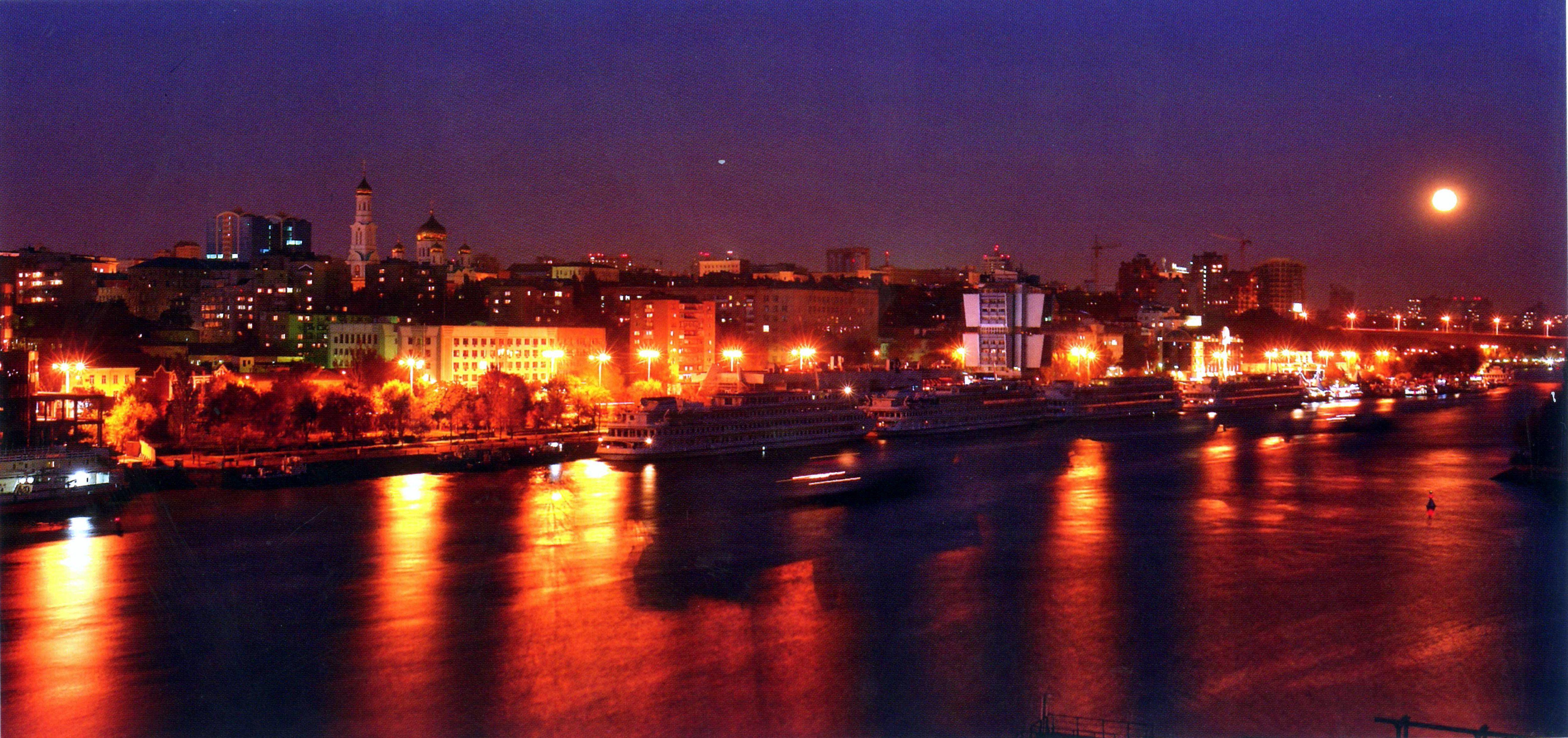 фото ночного ростова-на-дону