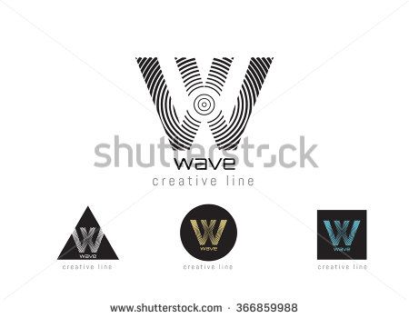 Abstract Letter W Logo Design Template Structure Simple Line Sign
