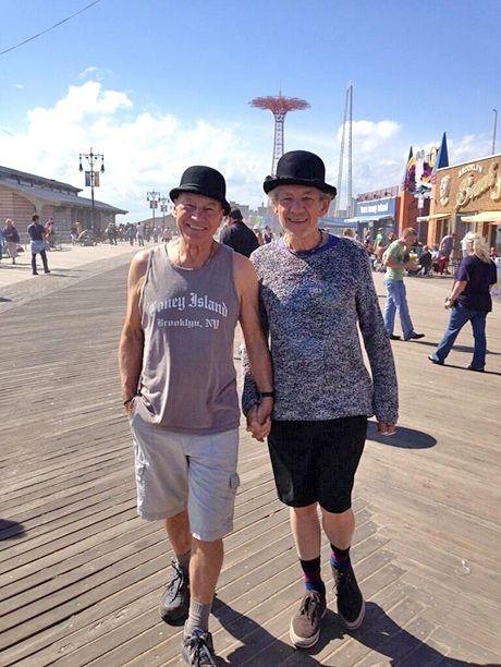 Ian McKellen, Patrick Stewart, NYC