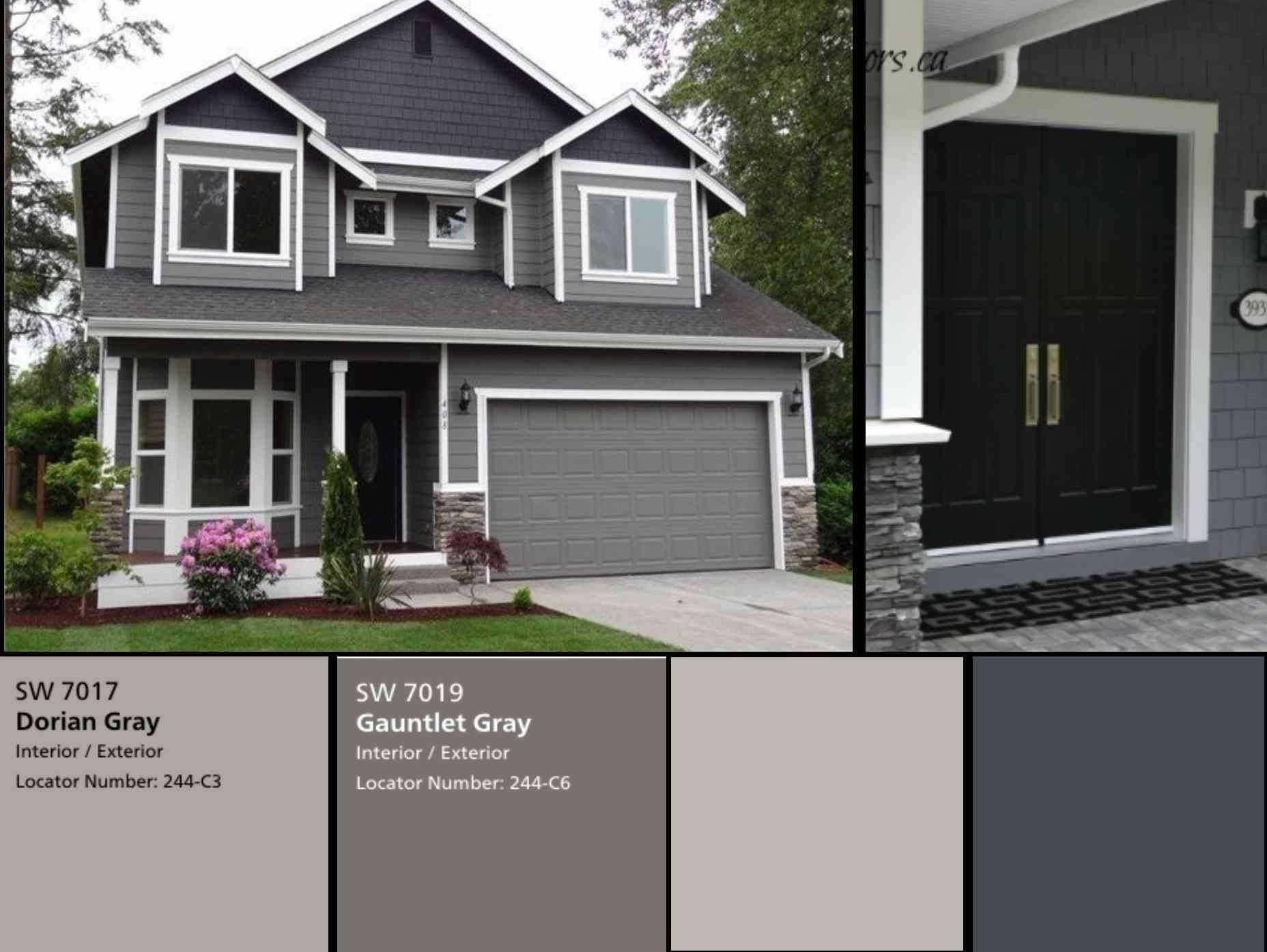 Exterior House Design Exterior Gray Paint House Paint Exterior