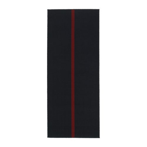 """Ikea Striped Rug Runner: HALSTED, Rug, Gray/red, 6'7"""" X 2'7"""" (for The Front Hallway"""