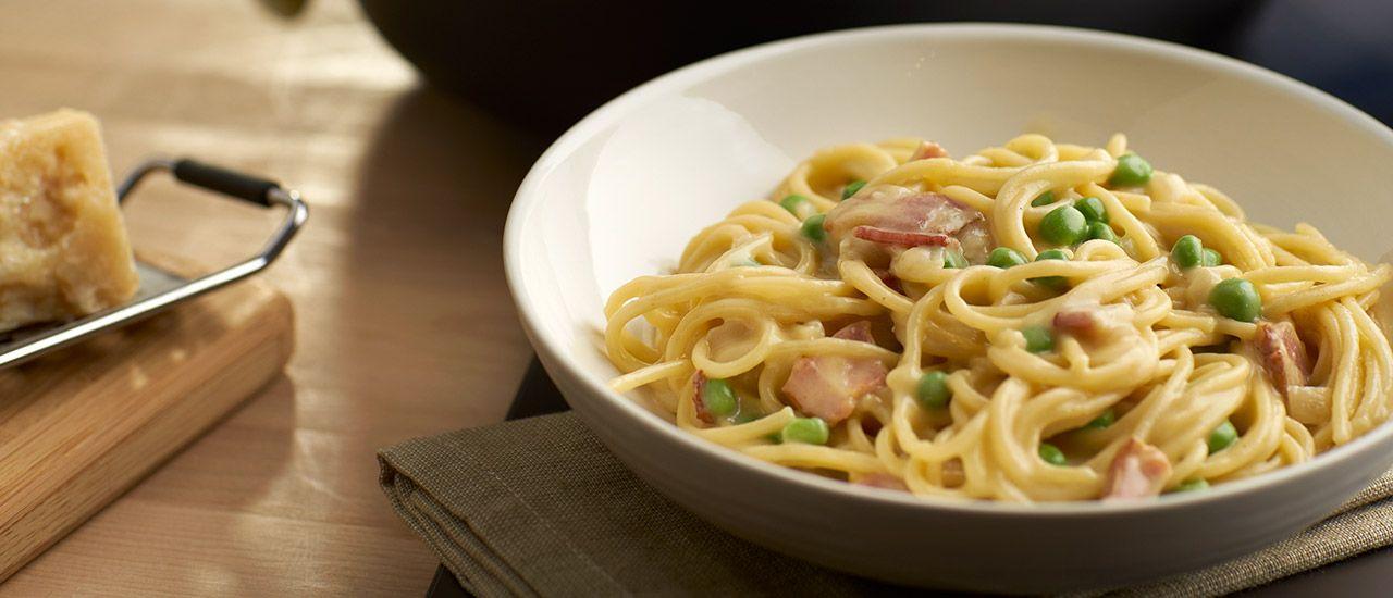 One Pot Spaghetti Carbonara Recipe Food Recipes Dinner Recipes Cooking Recipes