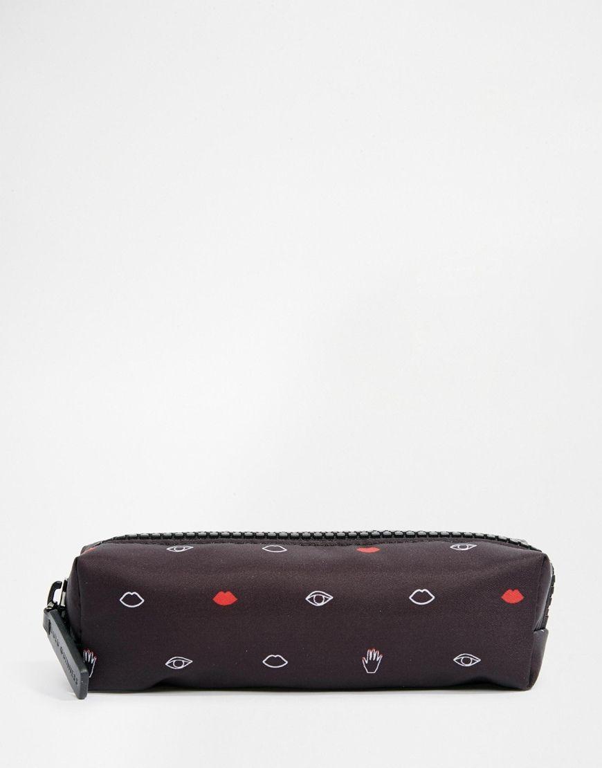 Make-Up-Tasche von Lulu Guinness weicher Stoff Druckmuster ...
