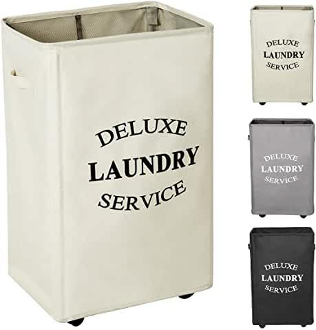 Amazon Com Vintage Wicker Basket In 2020 Large Laundry Hamper