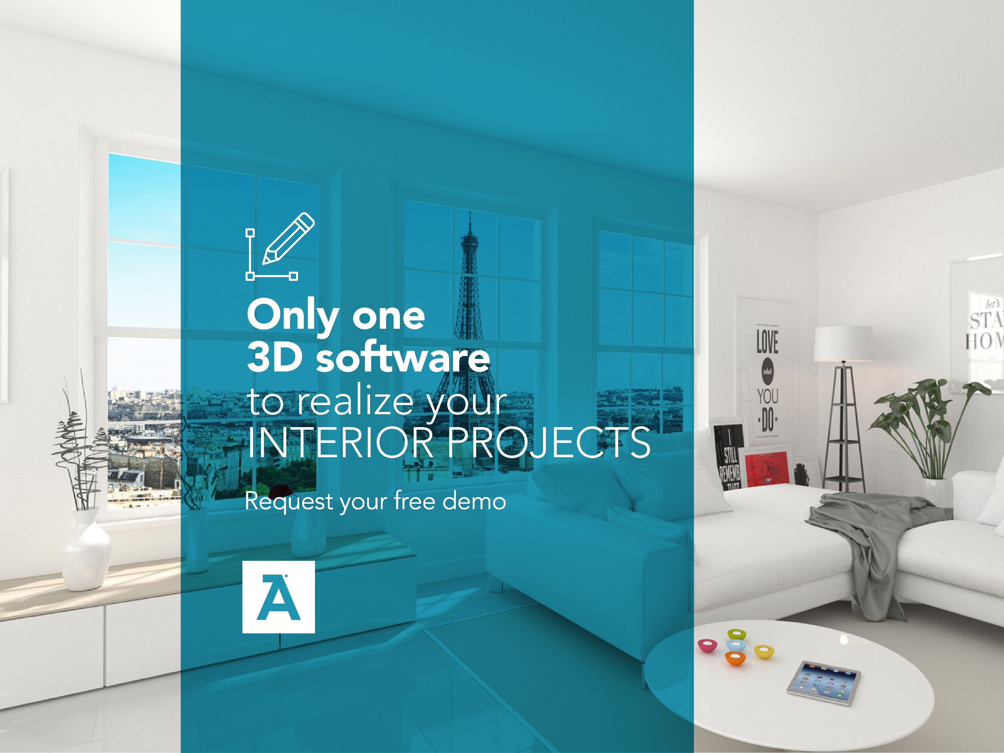 Flos is an official partner and its exclusive products for Software arredamento gratis