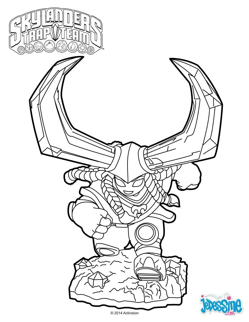 skylanders trap team coloring pages head rush