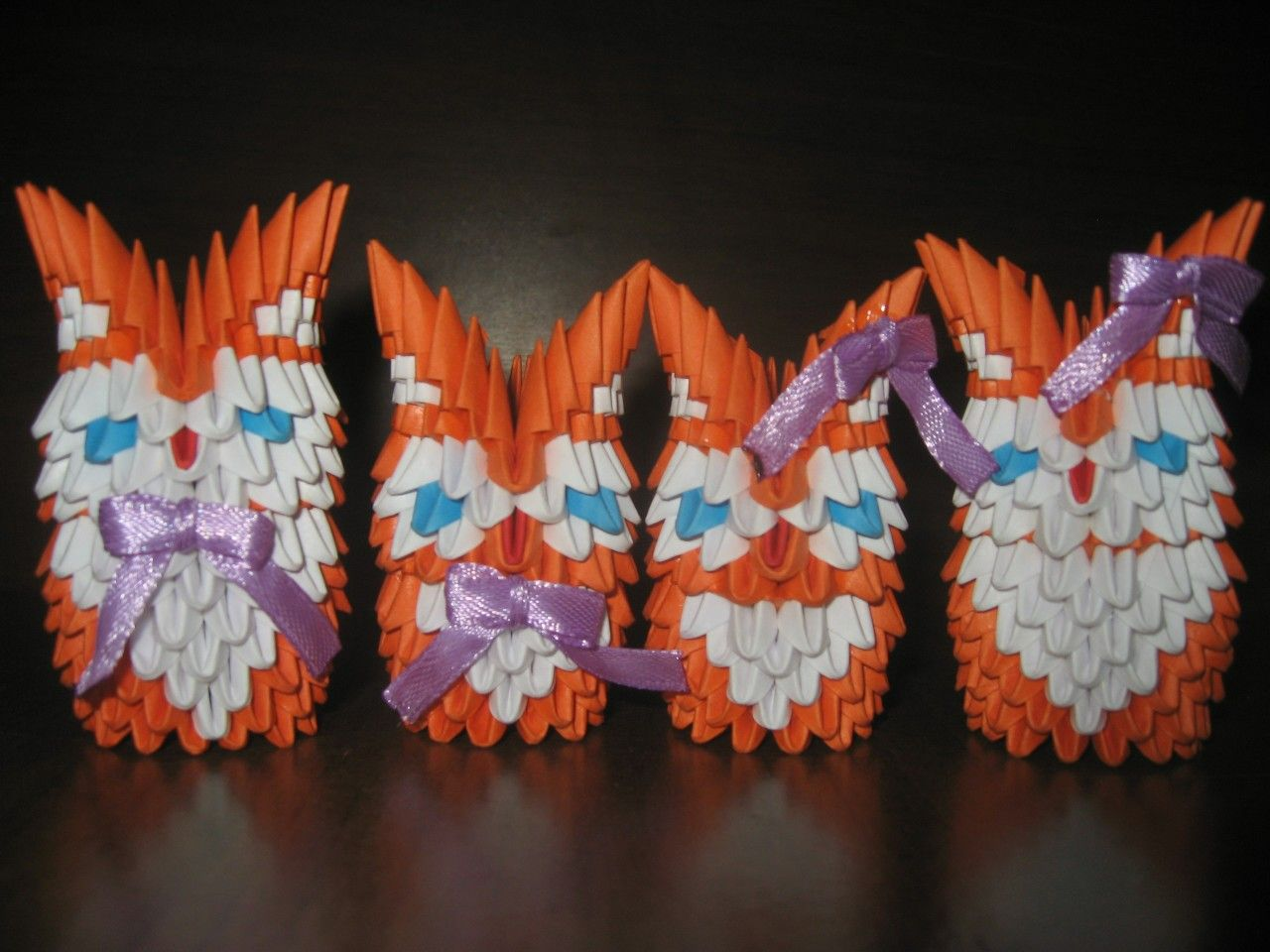 сова модульное оригами схема