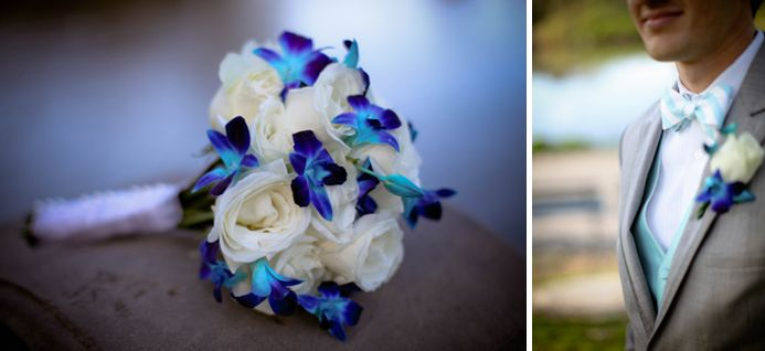 Bridal Bouquet Of White Roses And Blue Orchids Photography By Josephpessar
