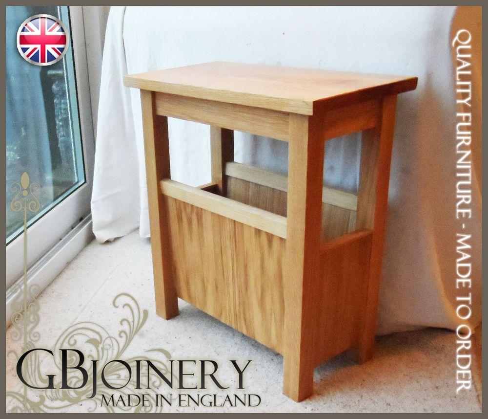 Oak Table plus Magazine Rack in Home, Furniture & DIY