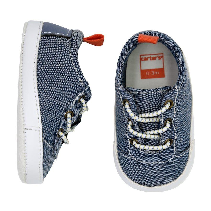757518ea5314e Baby Boy Carter s Chambray Sneaker Crib Shoes