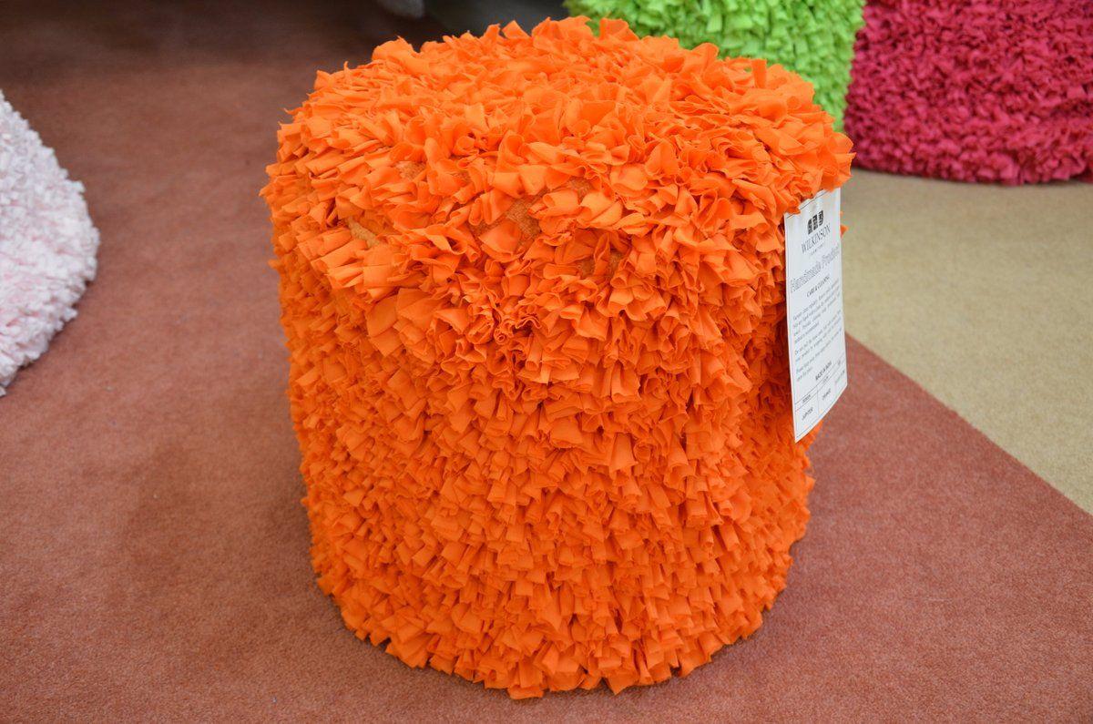 Footstools : Bright Orange Pouffe