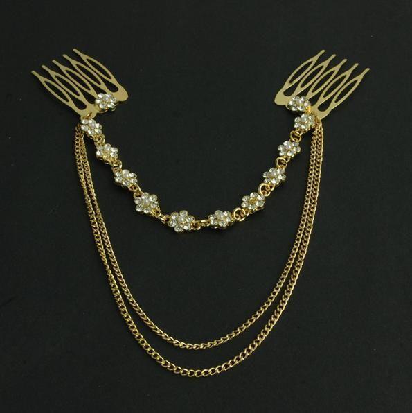 Accessoires Pétales chaîne forage De Mode en épingle à cheveux cheveux cerceau coiffe Femmes Bijoux b1.5D25300