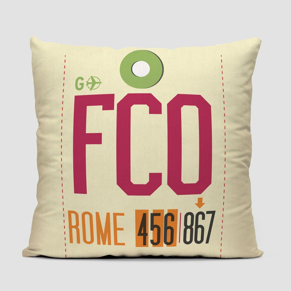 Fco throw pillow throw pillows and rome airport