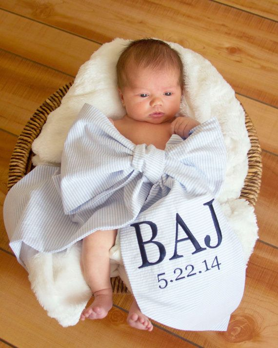 Baby swaddle bow 30 maybe one day far away pinterest items similar to custom monogrammed swaddling sash with birthday for newborn baby photos and gender reveal on etsy negle Choice Image
