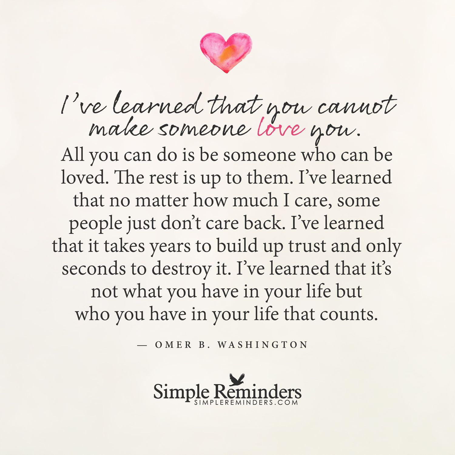 Simple I Love You Quotes You Cannot Make Someone Love Youomer Bwashington