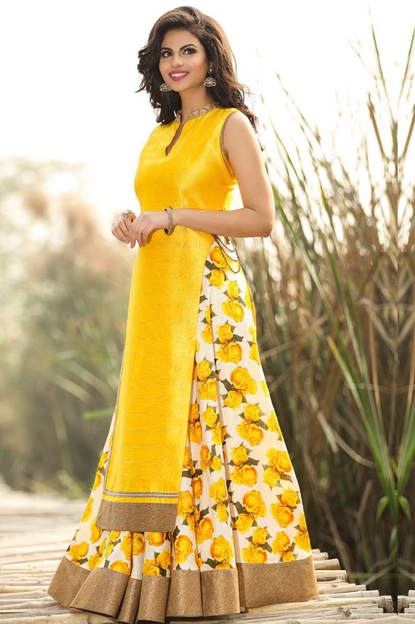 a387adf1ac Shop Laxmipathi Craftsvilla Sepecial Exclusive Designer Printed Gown by  Laxmipathi Suit N Sarees online. Largest