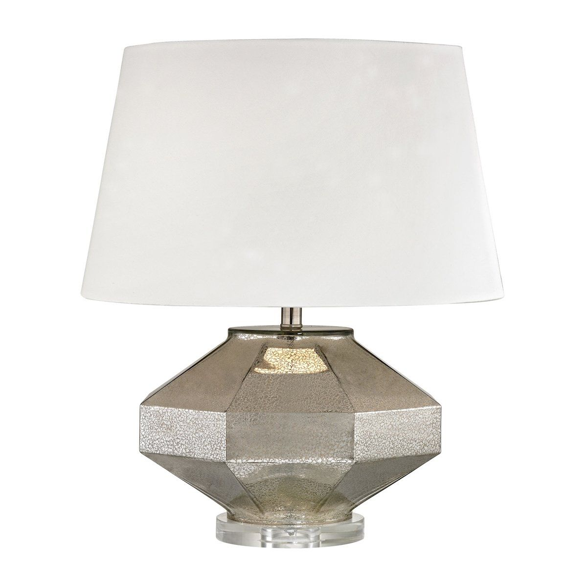Angular blown glass table lamp in silver by dimond lighting angular blown glass table lamp in silver by dimond lighting mozeypictures Gallery