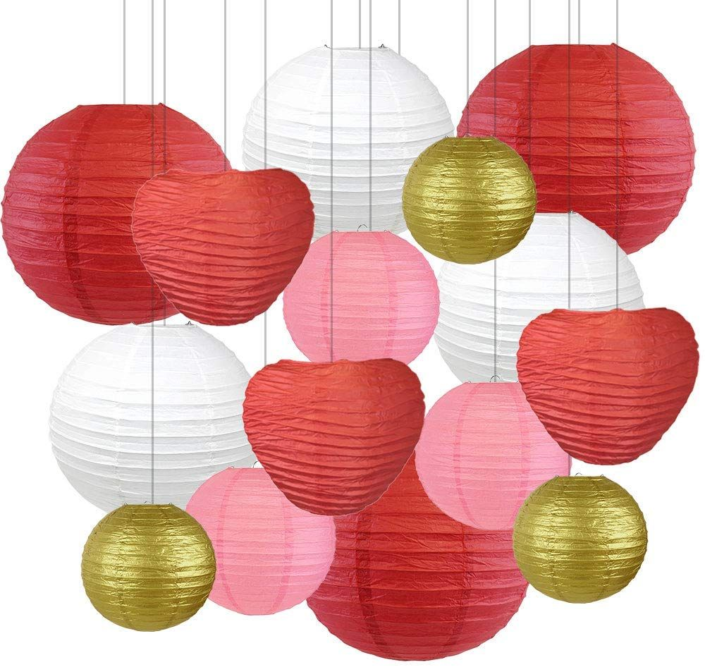 Decorate For This Valentines Day With Our Incredible Just Artifacts Paper Lanterns All These Reds An In 2020 Paper Lantern Decor Hanging Paper Lanterns Paper Lanterns