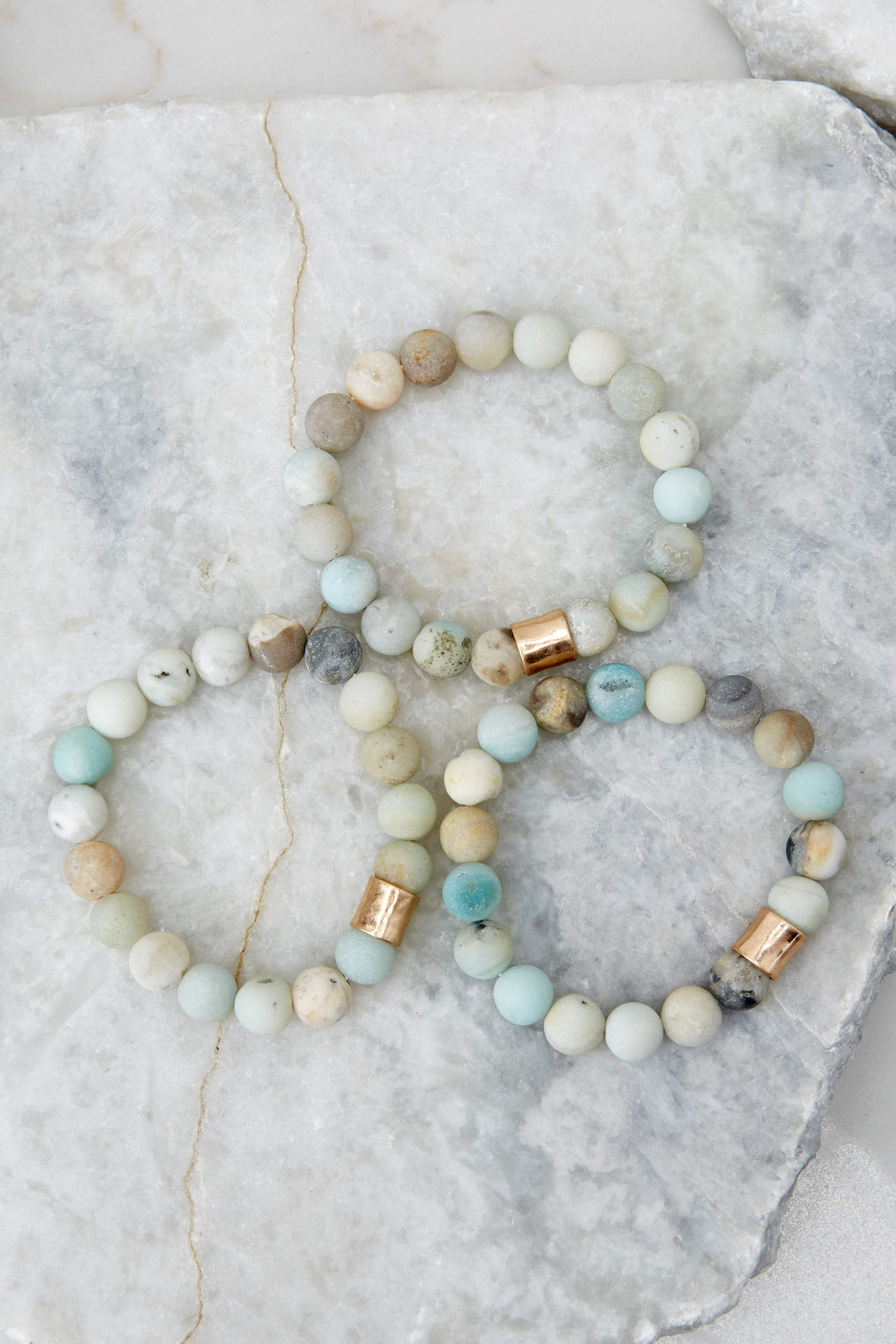 Photo of The Best Part Light Green Multi Beaded Bracelet Set