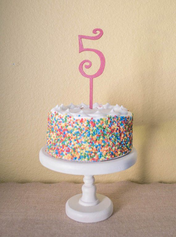 Number Five Birthday Cake Topper