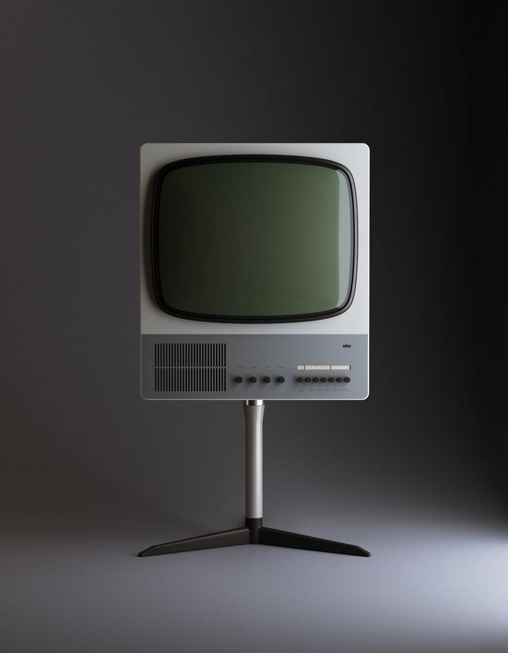 "Television Receiver ""FS80"" (1965 – 1967) | Designer: Dieter Rams, Braun | 3D Render: Vladimir Pospelov"
