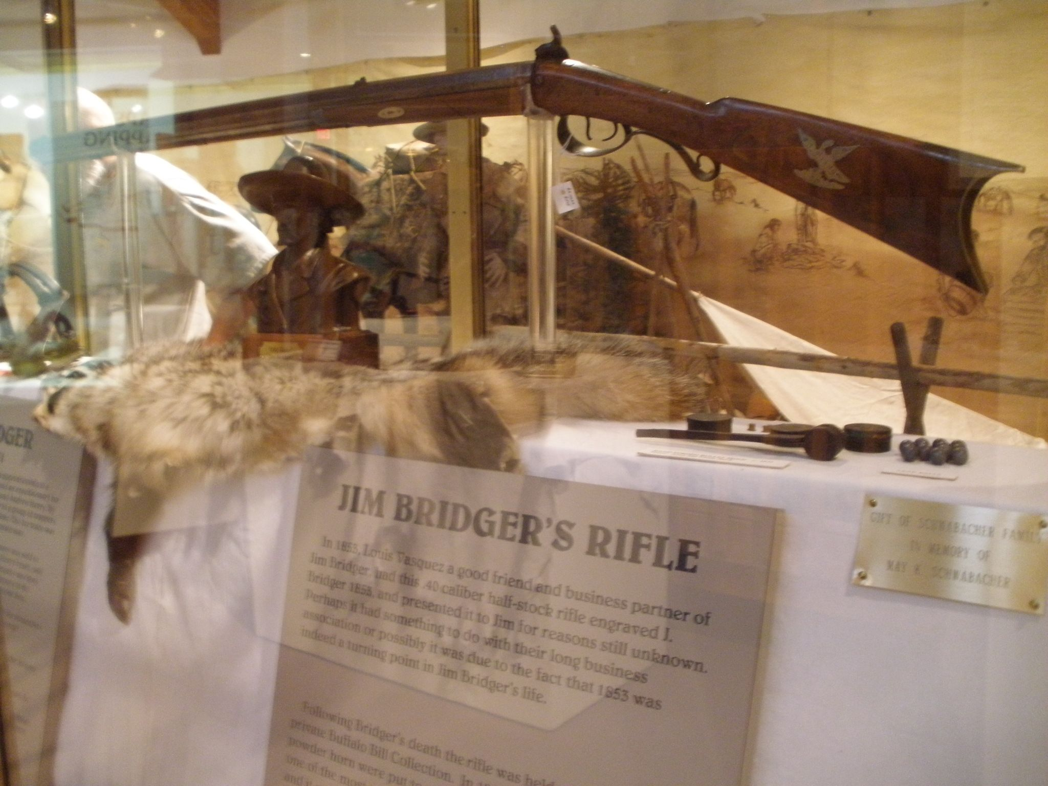 Jim Bridger's rifle in the Museum of the Mountain Men, Pinedale, WY