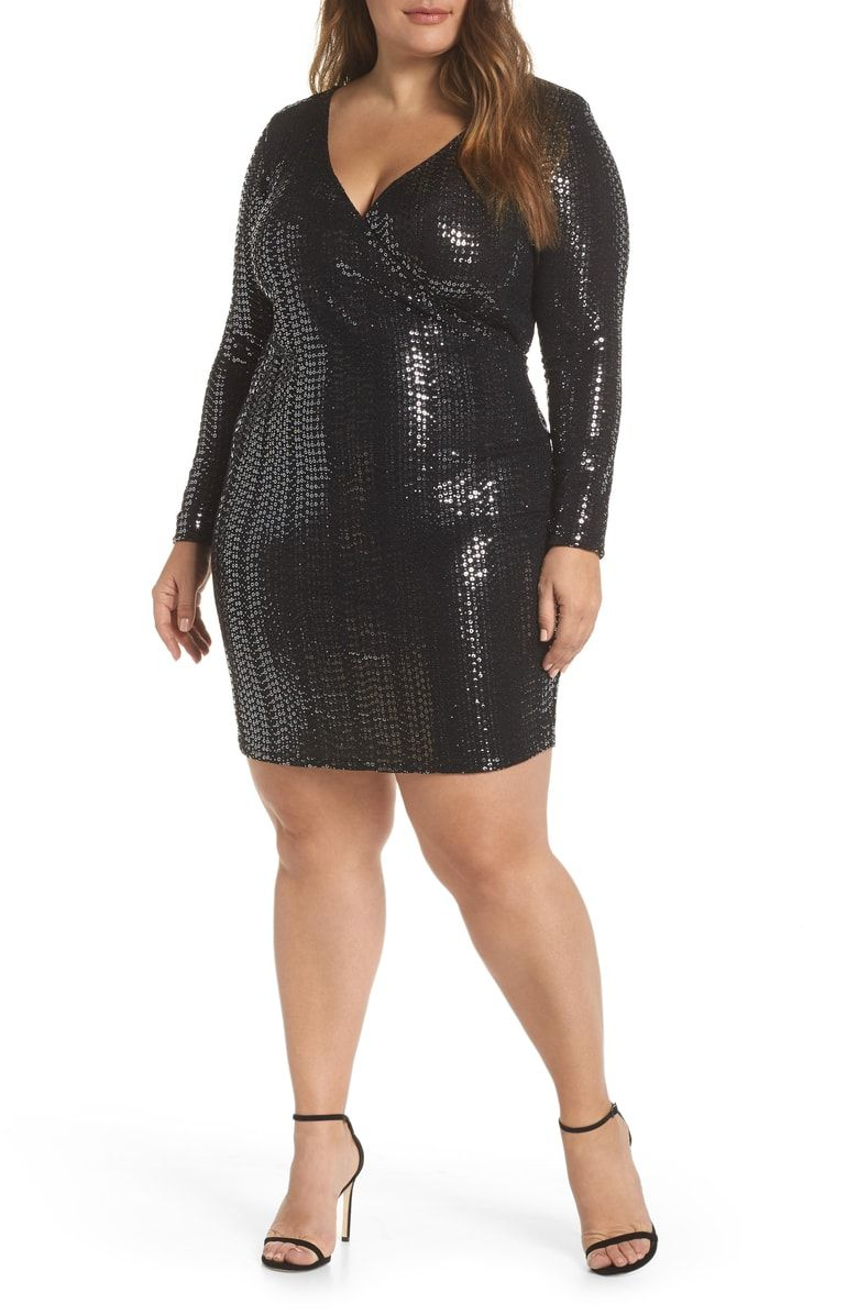 60e35293db Free shipping and returns on Leith Sequin Sheath Dress (Plus Size) at  Nordstrom.